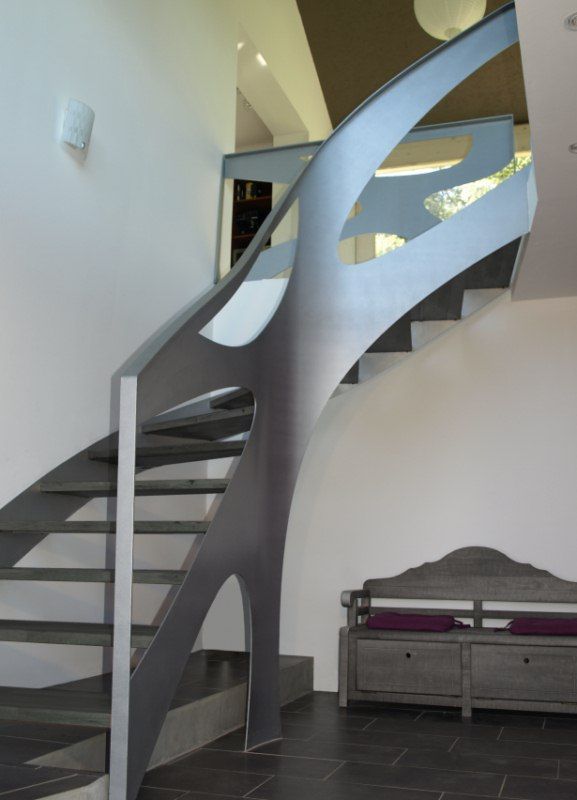 Escaliers olivier marczak le design chez vous for Main courante escalier originale